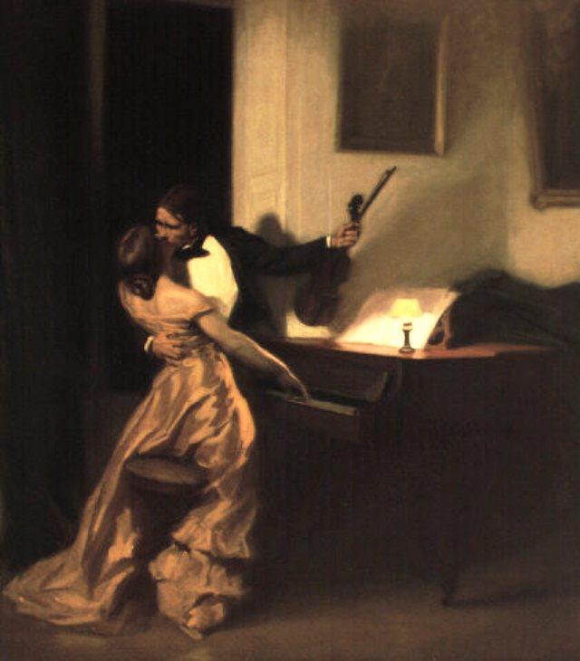 La Sonate à Kreutzer, huile de René-Xavier Prinet datée de 1901