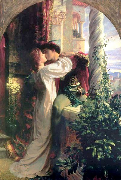 Romeo et Juliette peint par Sir Franck Dicksee