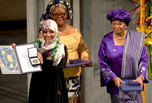 Prix Nobel de la Paix en 2011 : Tawakkul Karman - Leymah Gbowee et Ellen Johnson Sirleaf