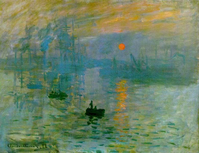 Claude Monet  Impression, sleil levant sur le port du Havre  (Impression, Sunrise) 1872-1873