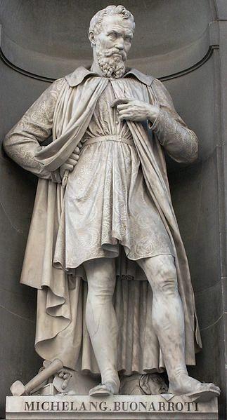 statue de Michelangelo Buonarroti dit Michel Ange
