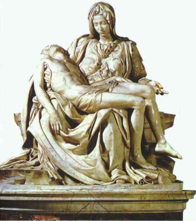 La pieta sculture de Michel Ange