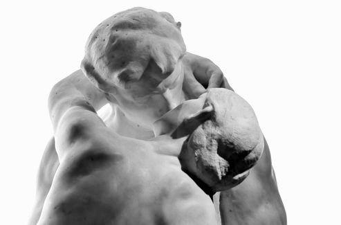 Le baiser detail des tetes Rodin 1882